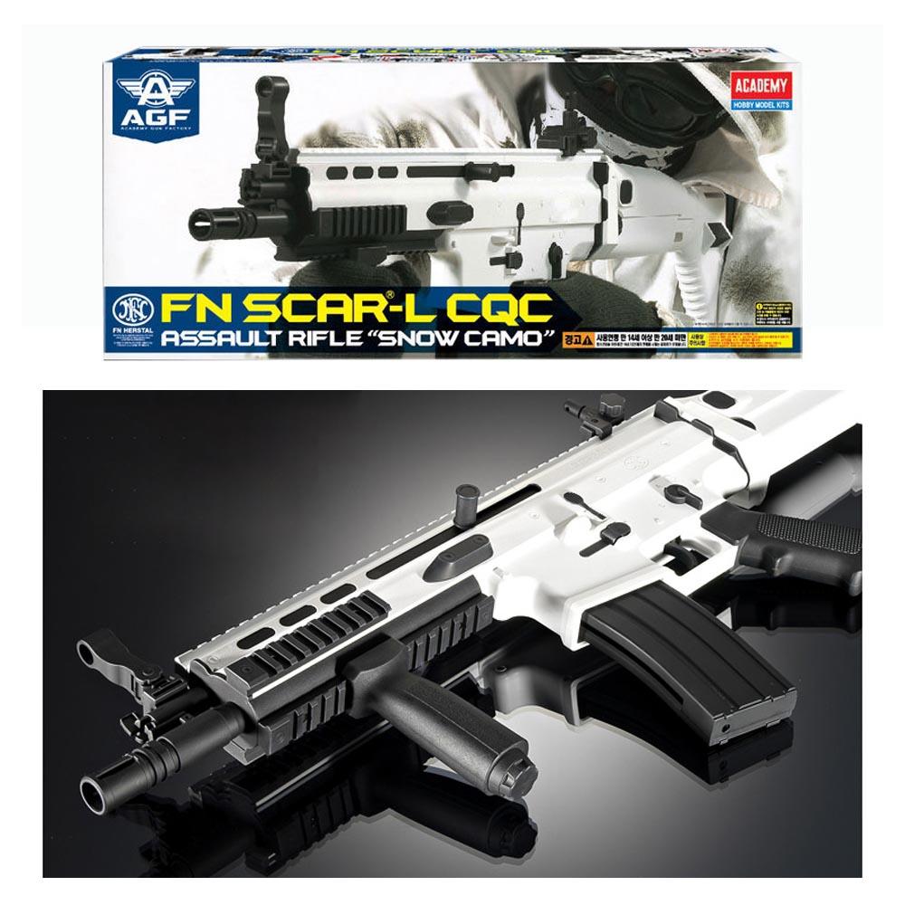 아카데미 FN SCAR-L CQC BB탄총 에어건 (Snow Camo) (17112)