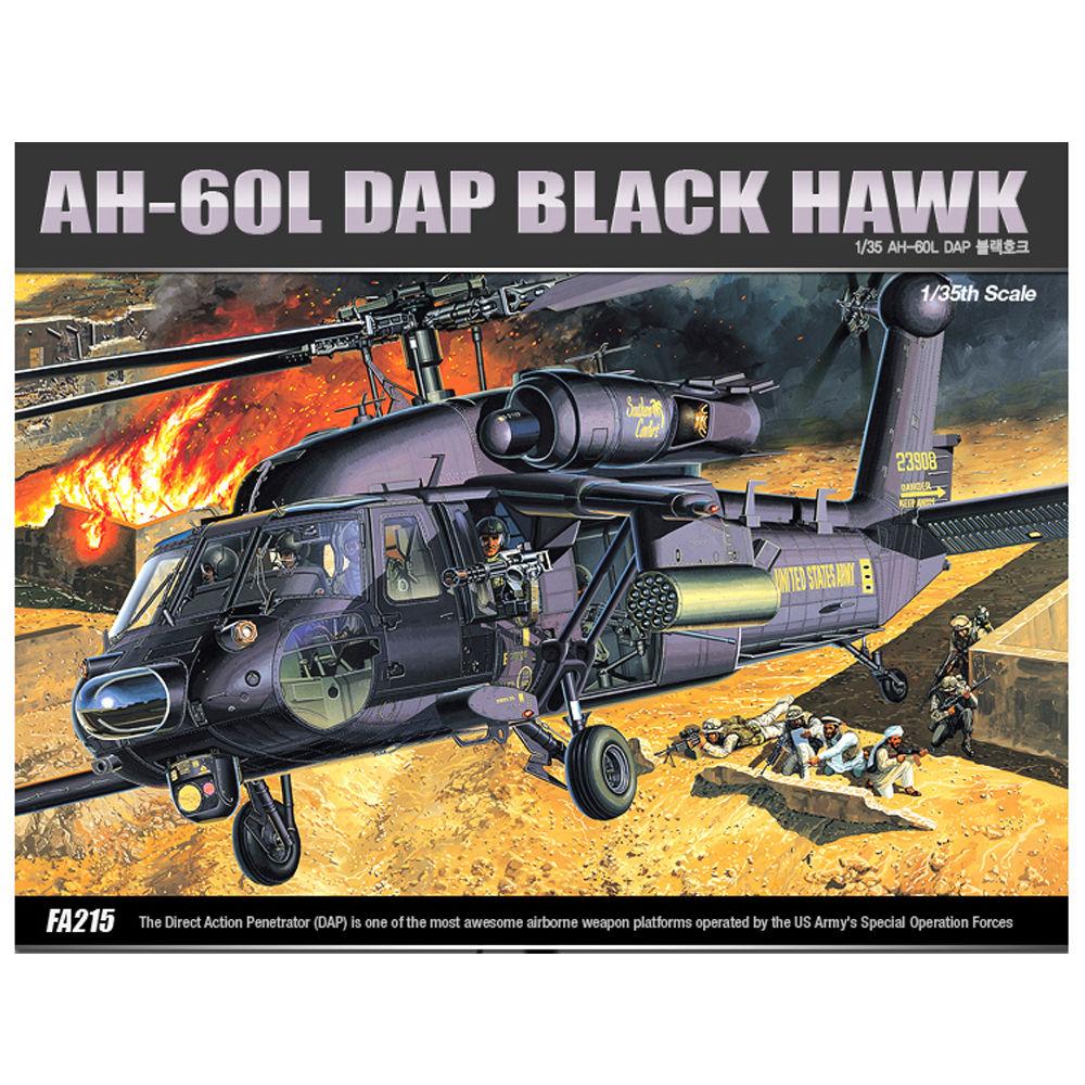아카데미 프라모델 1대35 AH-60L DAP 블랙호크 (12115)