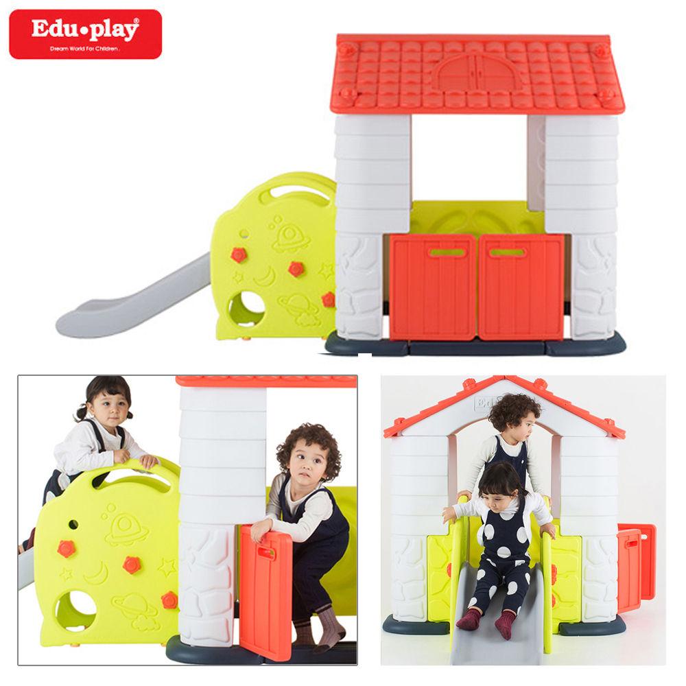 에듀플레이하우스3 미끄럼틀 놀이집 (코랄)