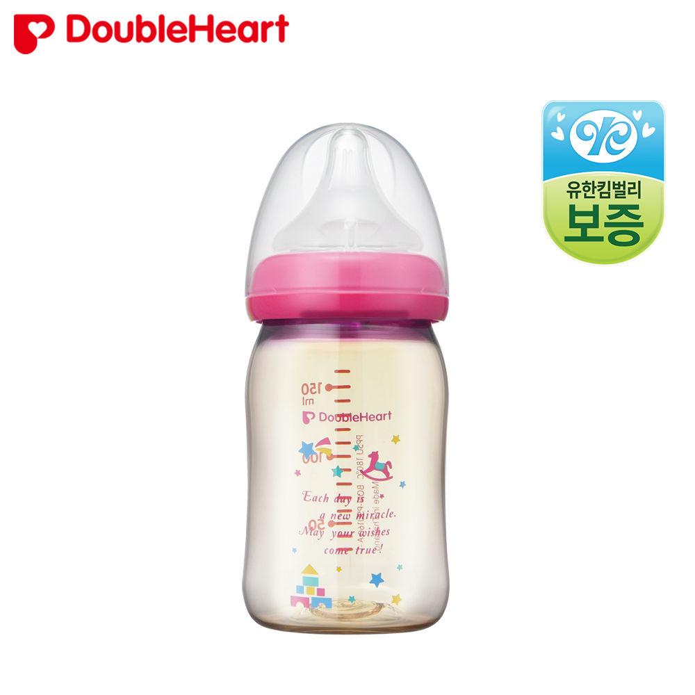 더블하트 소프트터치 모유실감 젖병 160ml (토이)