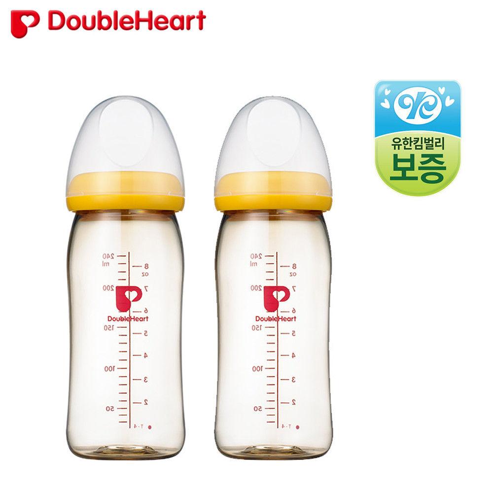 더블하트 소프트터치 모유실감 젖병 240ml (트윈팩)