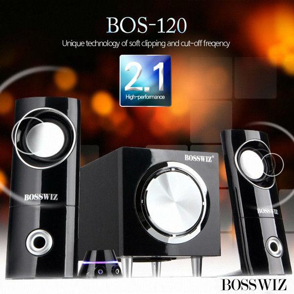 BOSSWIZ 스피커 (2.1채널) (유선리모컨내장) (BOS-120)