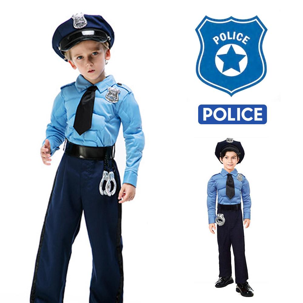 한중 경찰복 코스튬