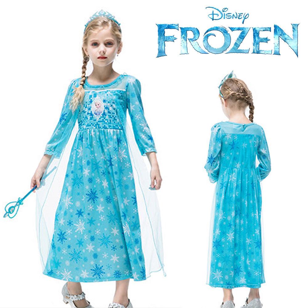 한중 겨울왕국 엘사 눈꽃 긴팔 드레스 (택1)