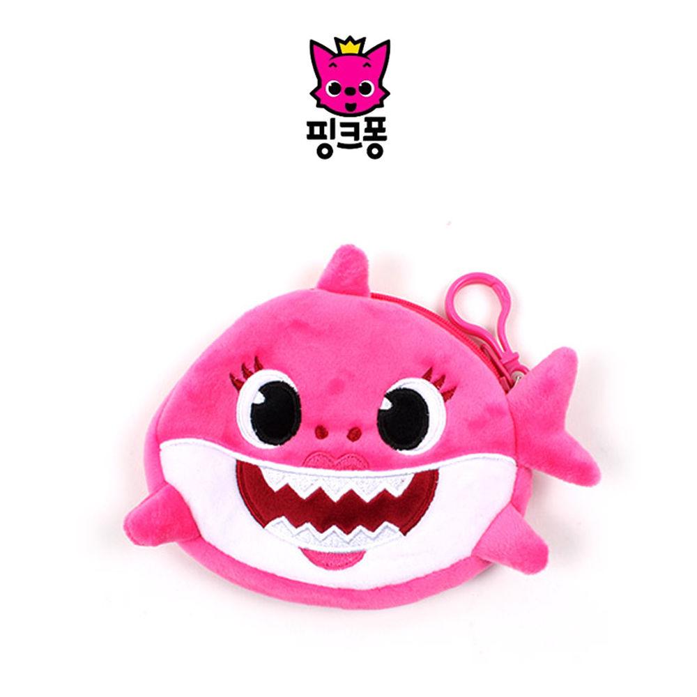 웰씨존 상어가족 동전지갑 핑크