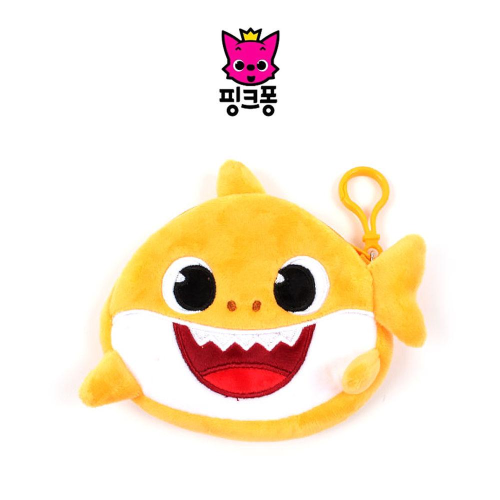 웰씨존 상어가족 동전지갑 옐로우