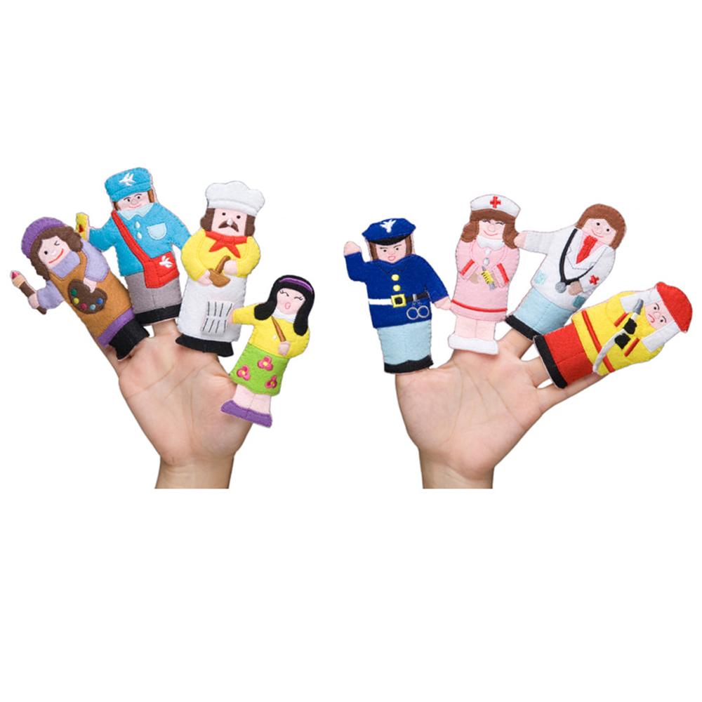매직캐슬 손가락 요리사와 직업 8종 (2060) (손가락 인형 극장)