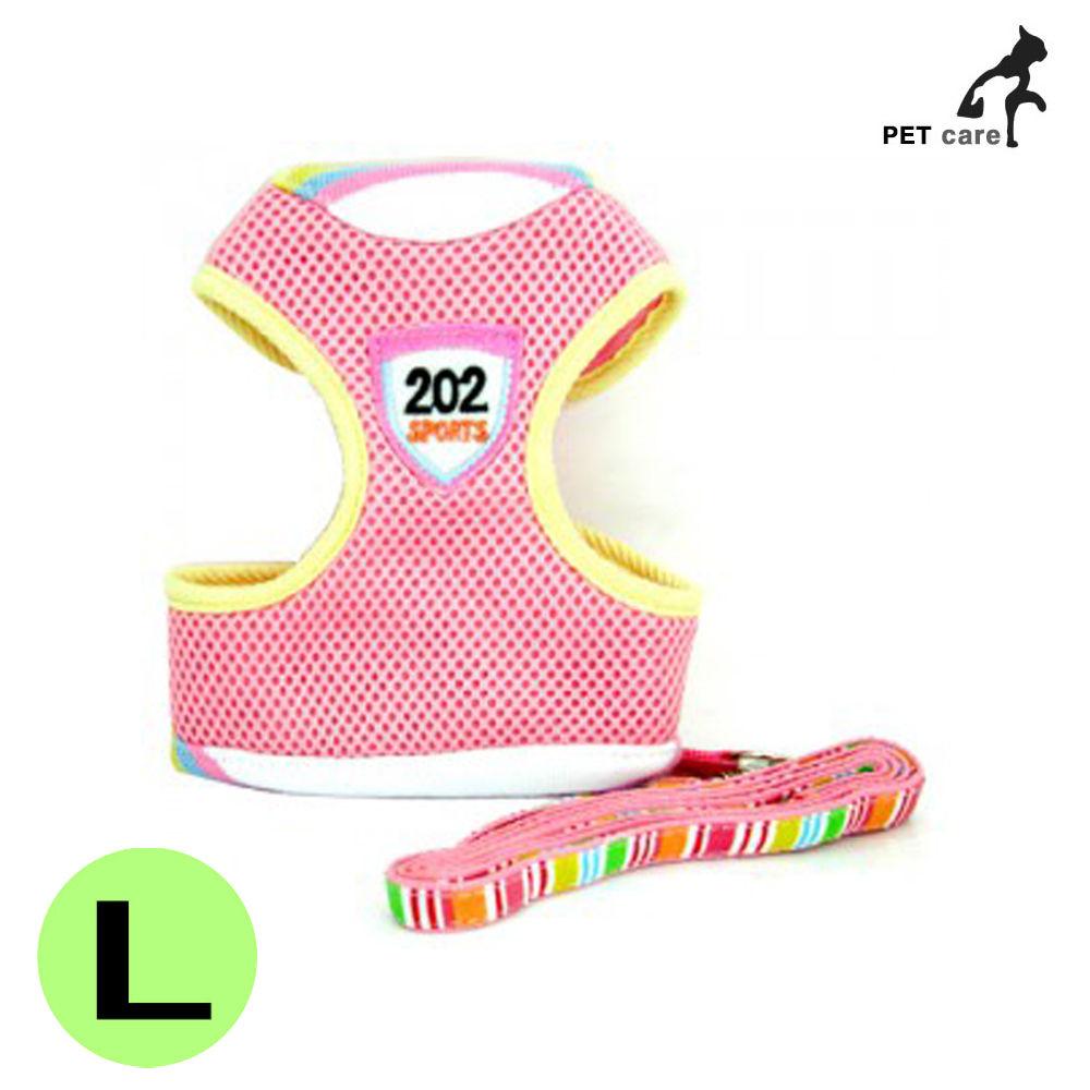 에어메쉬 패션 가슴줄 (핑크) (L)