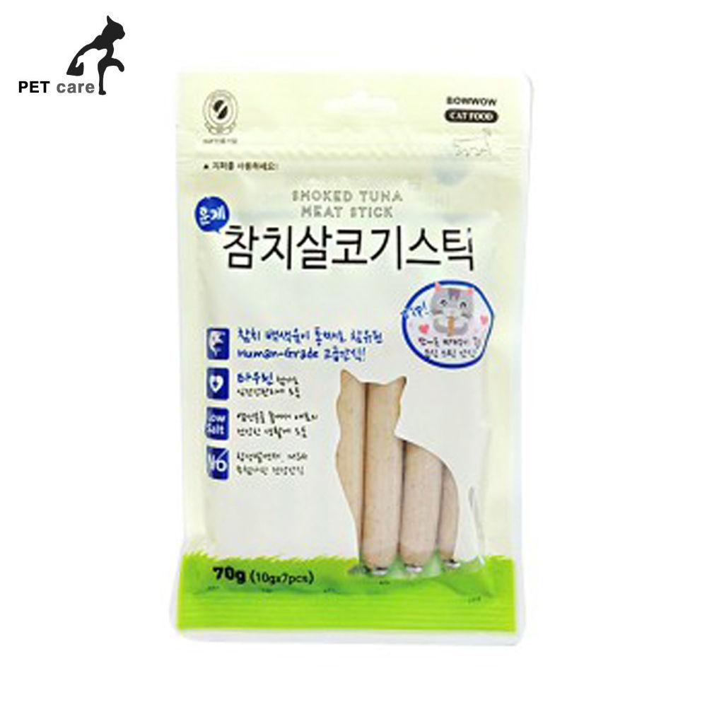 바우와우 훈제참치 살코기스틱 70g (고양이용)