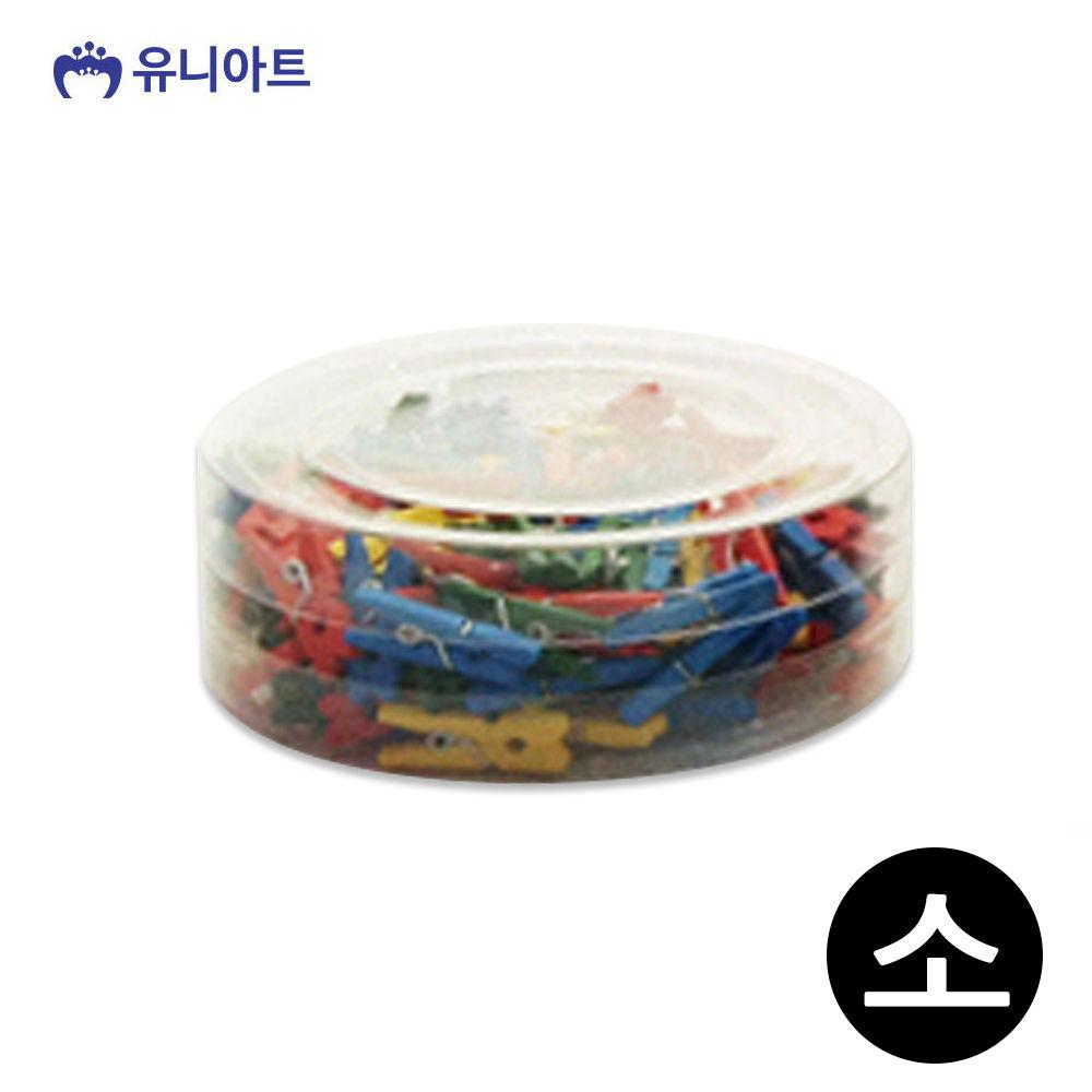 유니아트 5000 칼라 나무집게 (소) (통)
