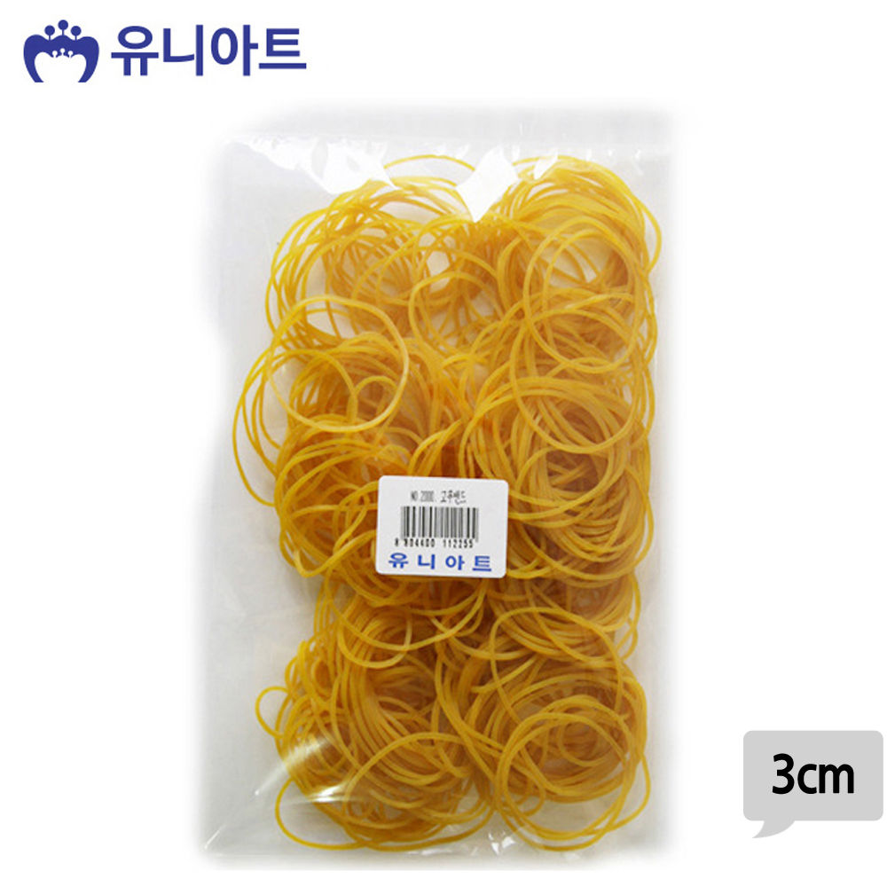 유니아트 (고무밴드) 2000 노랑 고무줄 (3cm)
