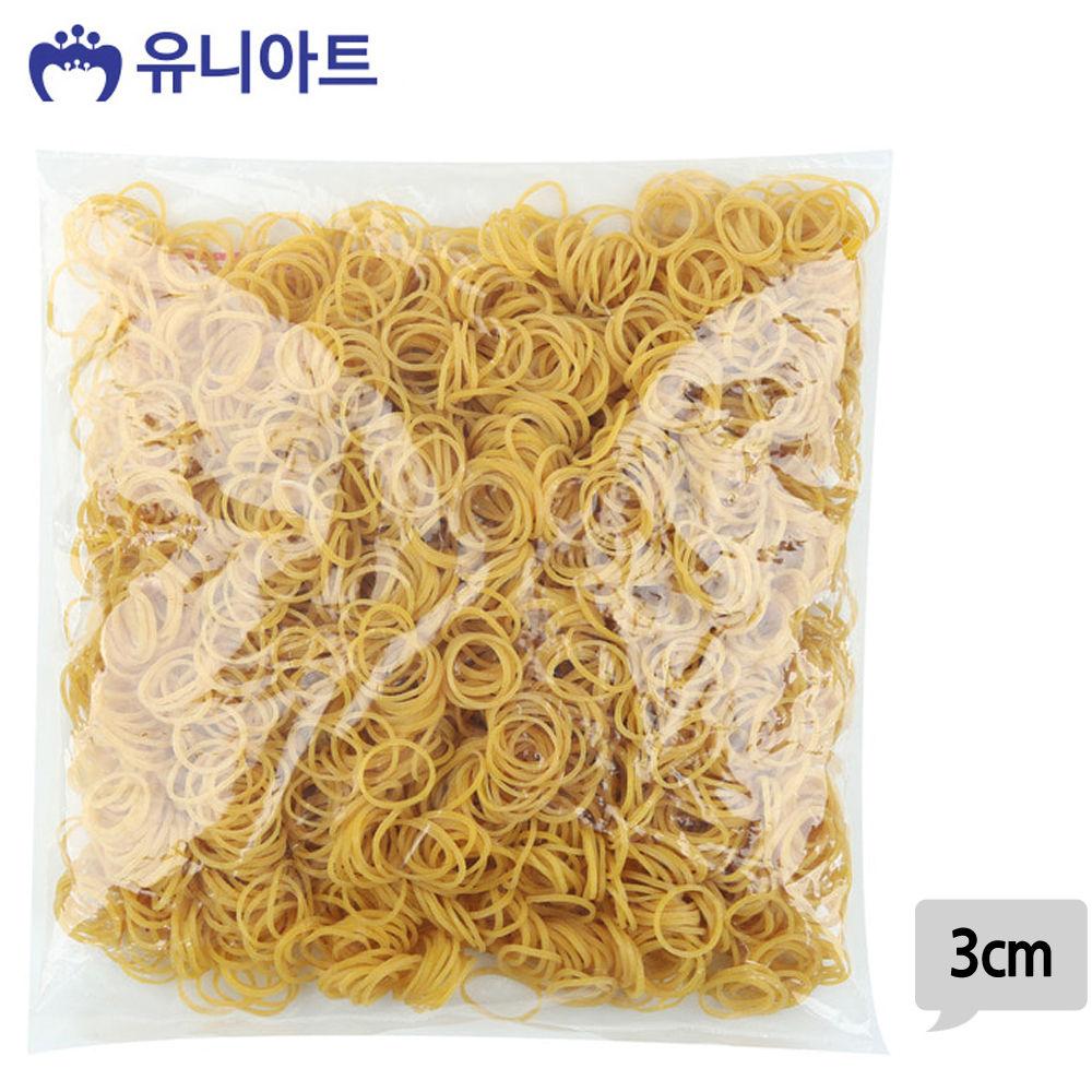 유니아트 (고무밴드) 10000 노랑 고무줄 (3cm)