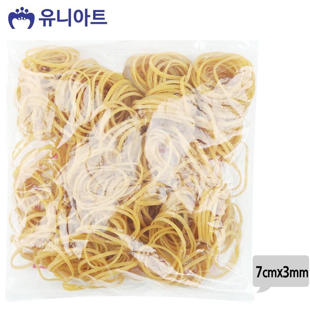 유니아트 (고무밴드) 10000 노랑 고무줄 (7cmx3mm)
