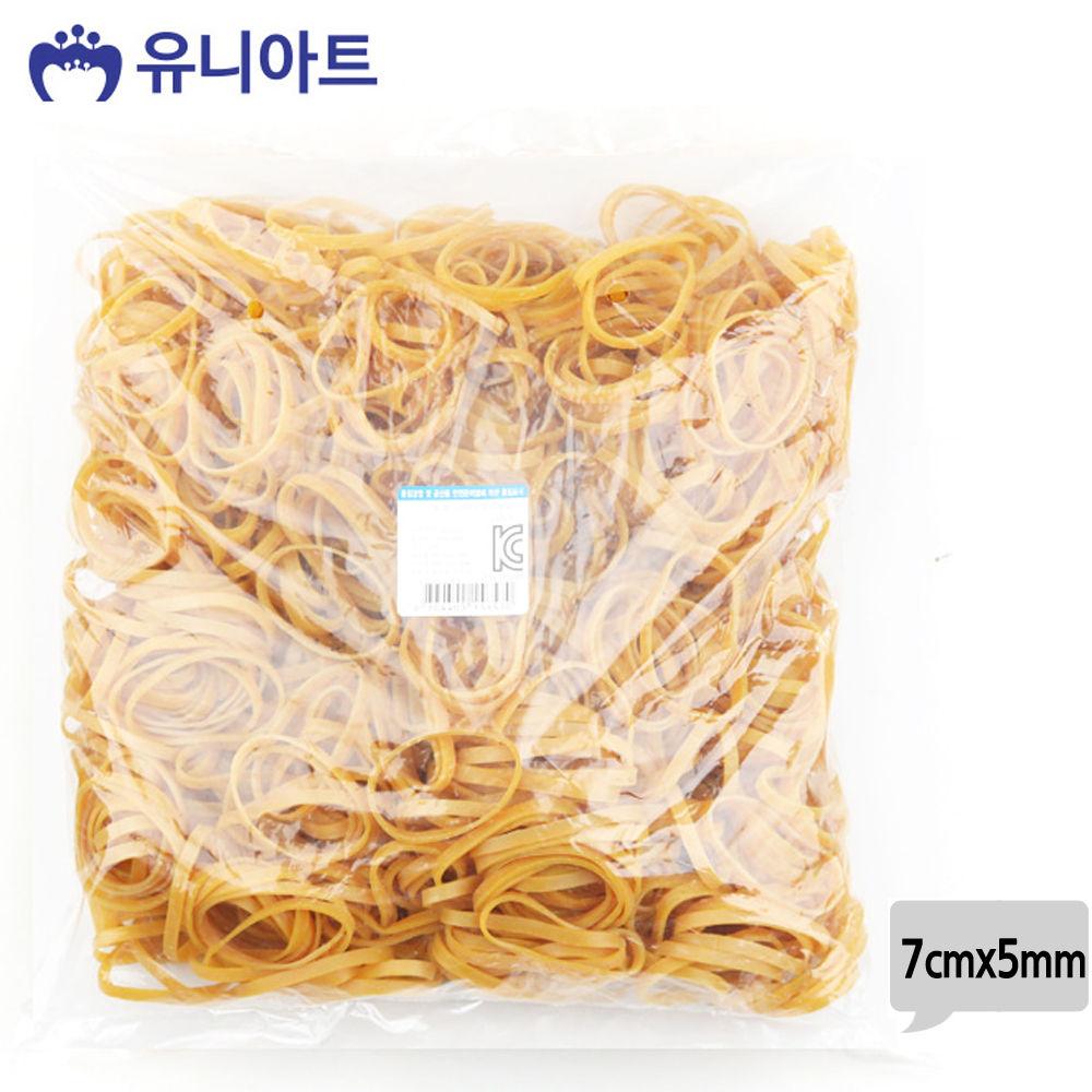 유니아트 (고무밴드) 20000 노랑 고무줄 (7cmx5mm)