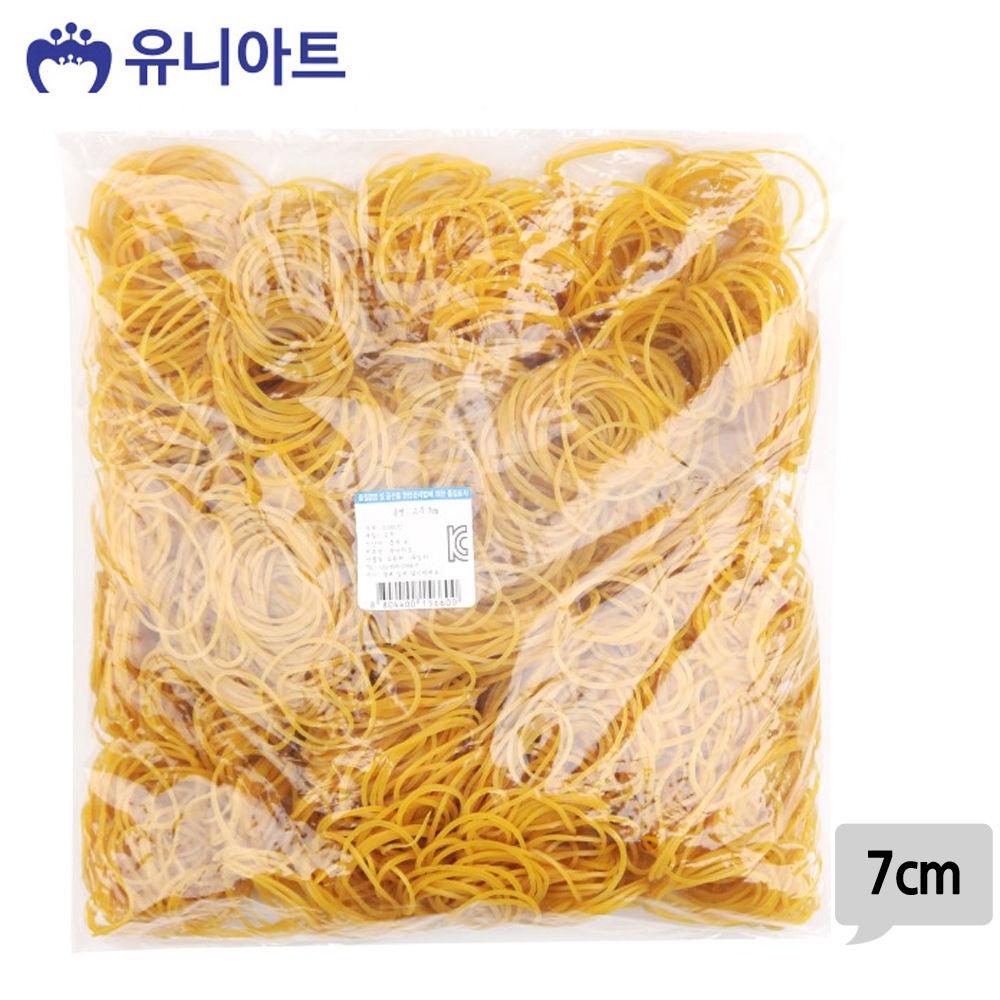 유니아트 (고무밴드) 30000 노랑 고무줄 (7cm)