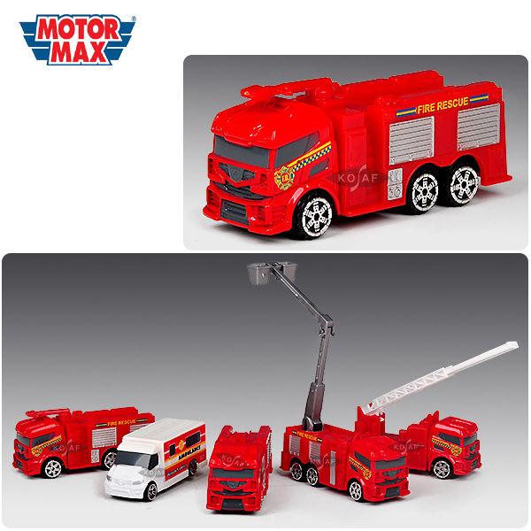 모터맥스 3인치 긴급 구조차량 5P세트 (76074)