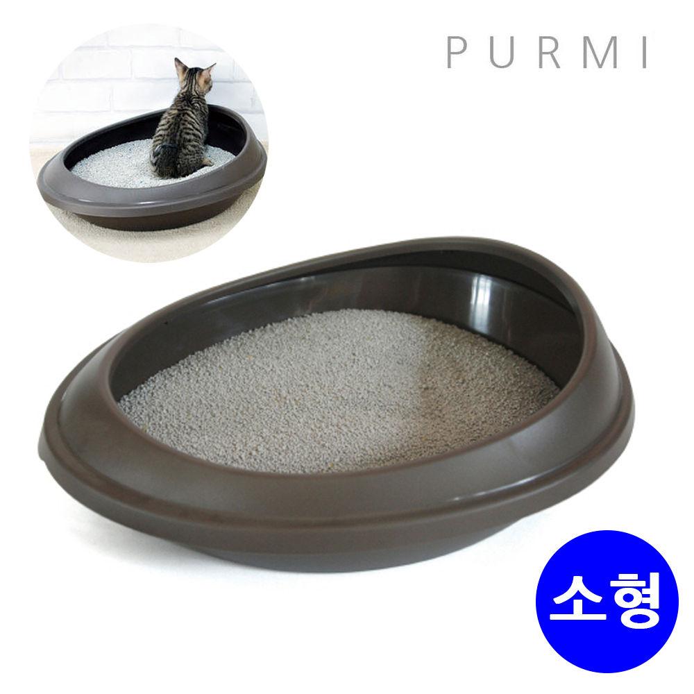 푸르미 고양이 화장실 소형 (브라운) (모래삽 랜덤)
