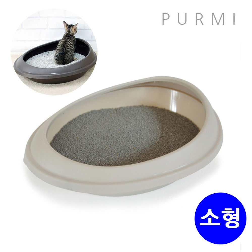 푸르미 고양이 화장실 소형 (아이보리) (모래삽 랜덤)
