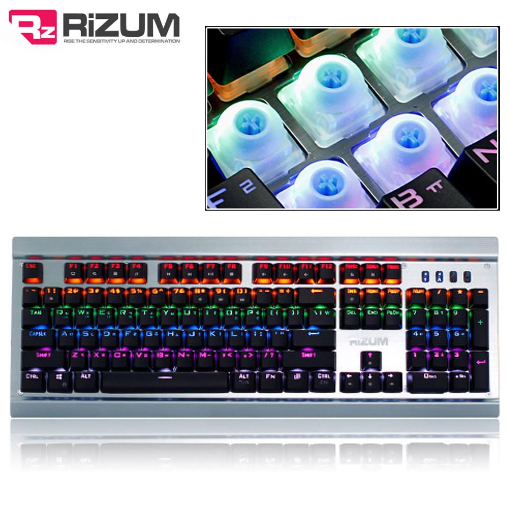 리줌 청축 실버 기계식 키보드 (Z90) (블랙)