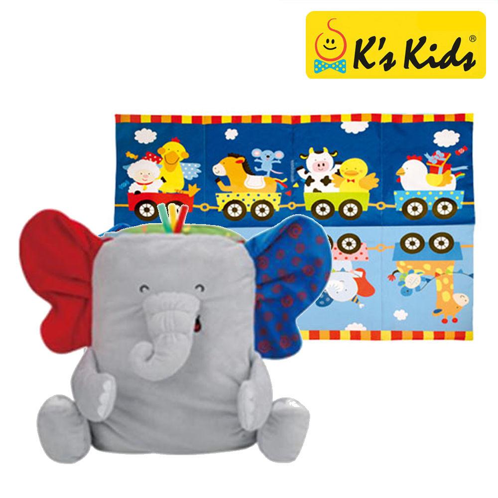 케이스키즈 코끼리 놀이매트 헝겊책 (KA10754)