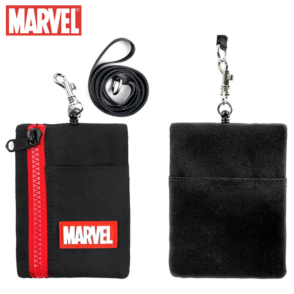 윙하우스 마블 심플 릴 목걸이 지갑 (블랙)