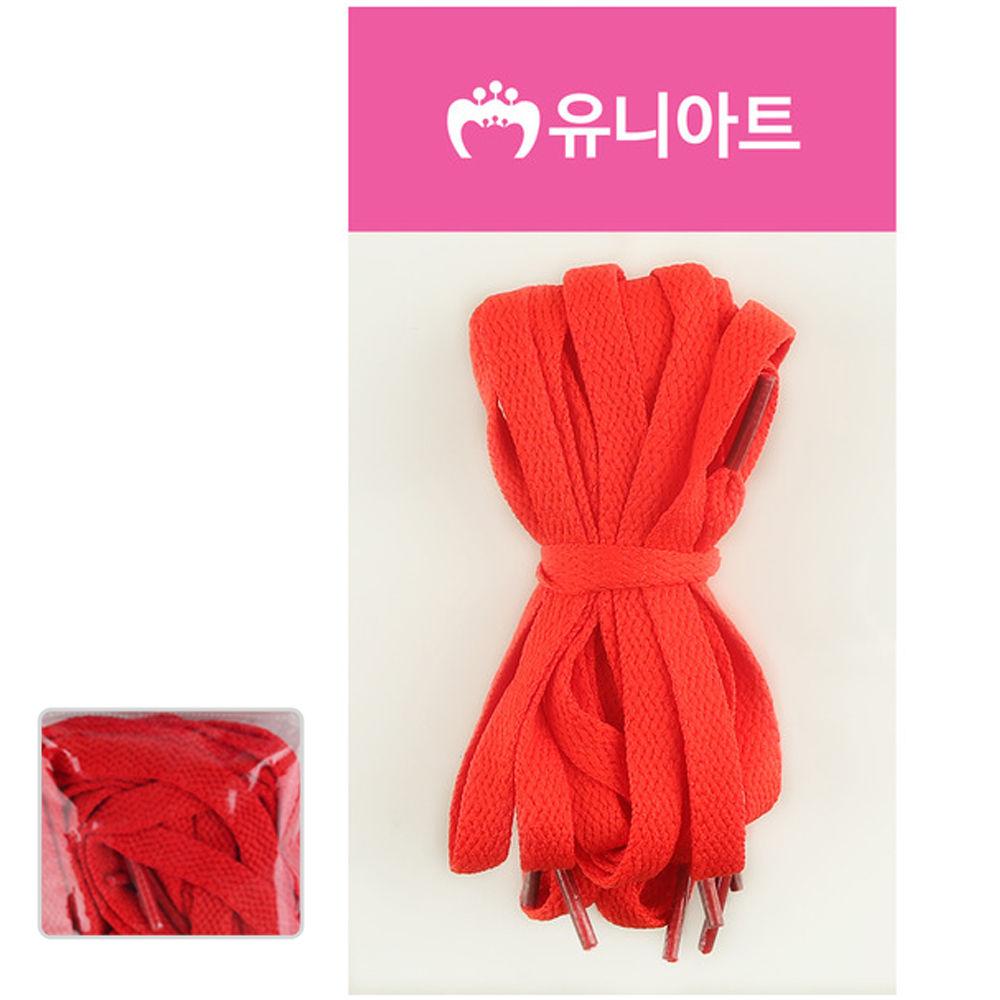 유니아트 (운동화끈) 1000 넙적 신발끈 (빨강)