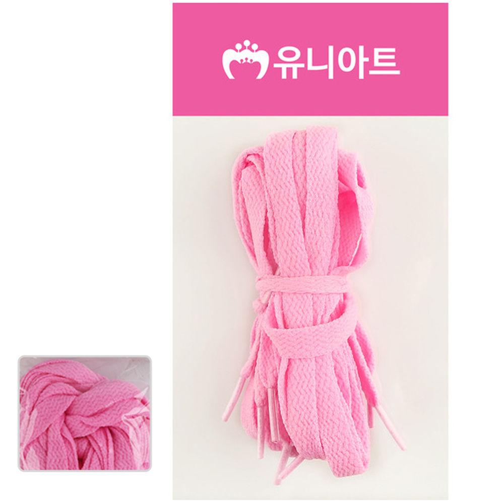 유니아트 (운동화끈) 1000 넙적 신발끈 (분홍)