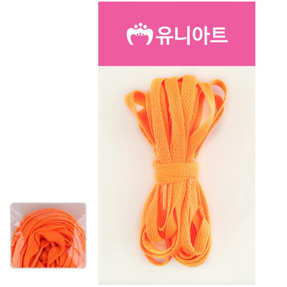 유니아트 (운동화끈) 1000 넙적 신발끈 (형광주황)