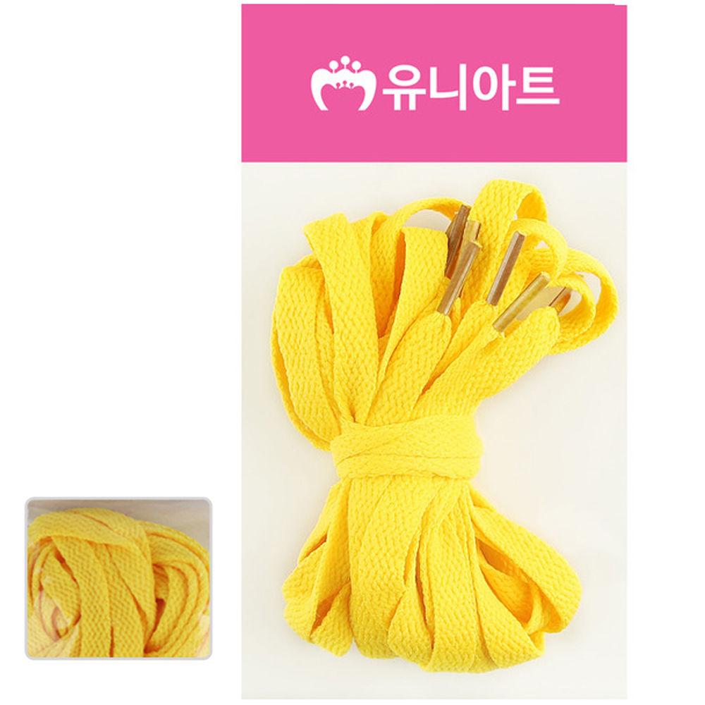 유니아트 (운동화끈) 1000 넙적 신발끈 (노랑)