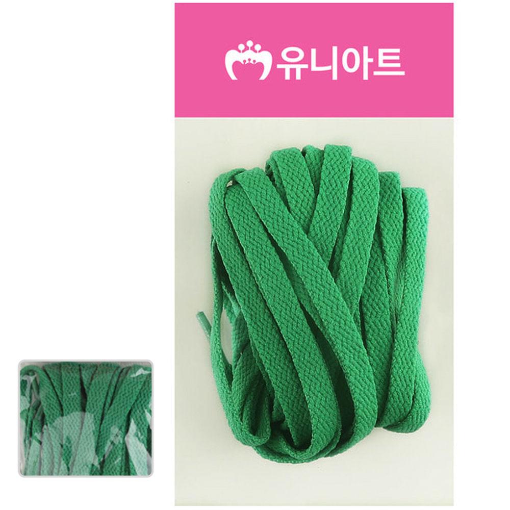 유니아트 (운동화끈) 1000 넙적 신발끈 (초록)