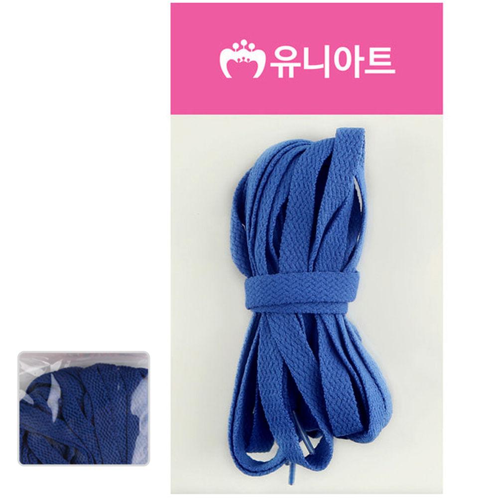 유니아트 (운동화끈) 1000 넙적 신발끈 (파랑)