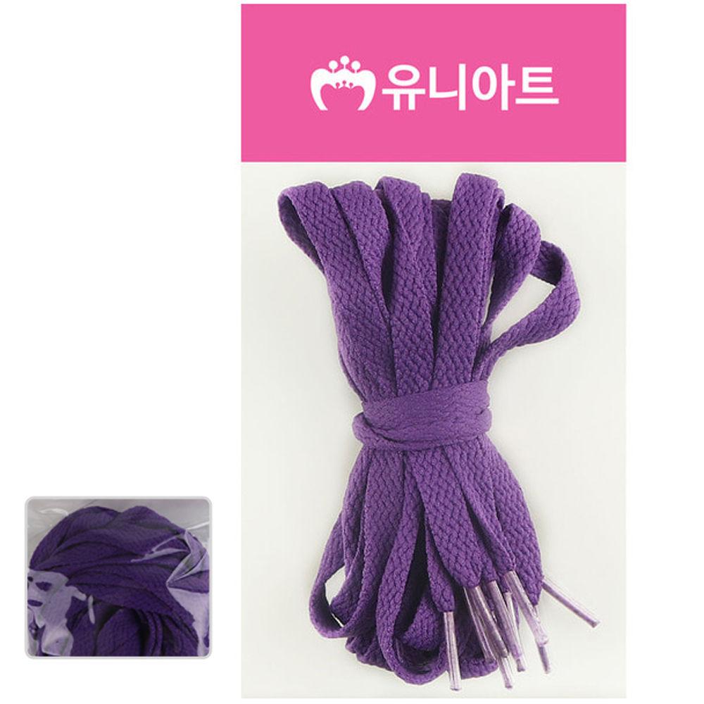 유니아트 (운동화끈) 1000 넙적 신발끈 (보라)