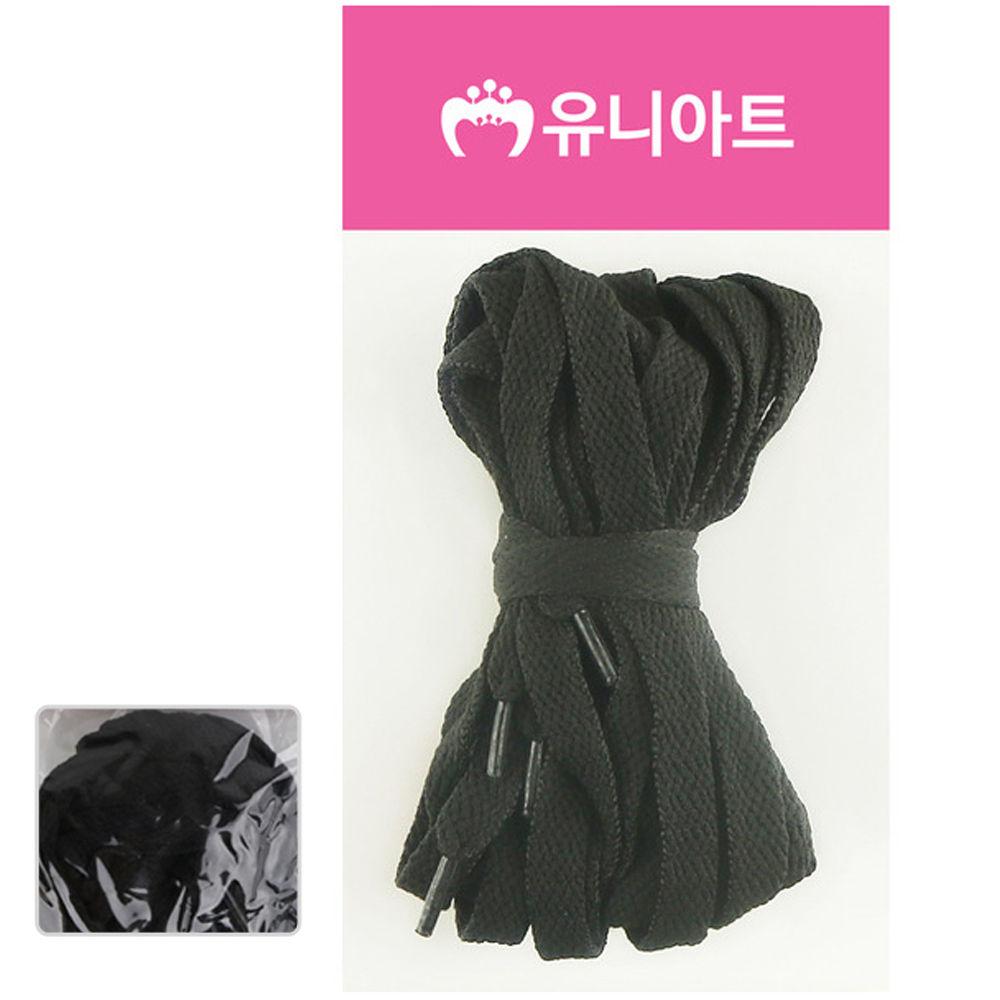 유니아트 (운동화끈) 1000 넙적 신발끈 (검정)