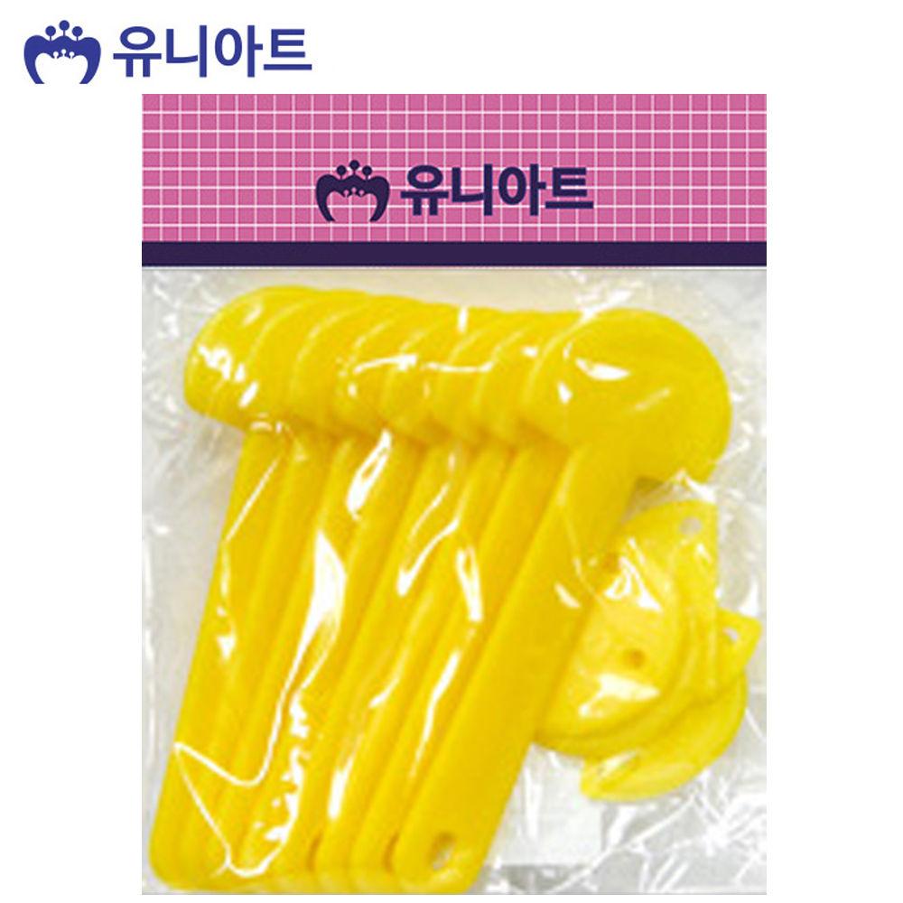 유니아트 (부채) 2000 반달 조립 부채 (노랑)