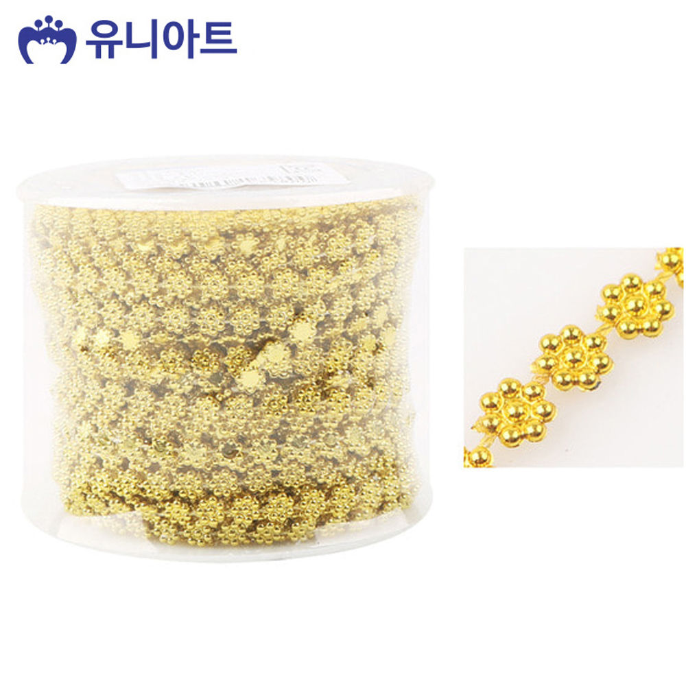 유니아트 (체인줄) 7500 롤체인줄 (no.8043) (금색)
