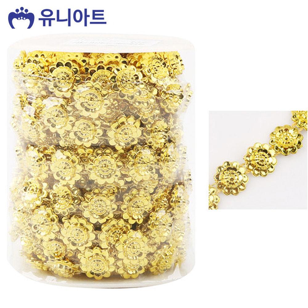 유니아트 (체인줄) 7500 롤체인줄 (no.8035) (금색)