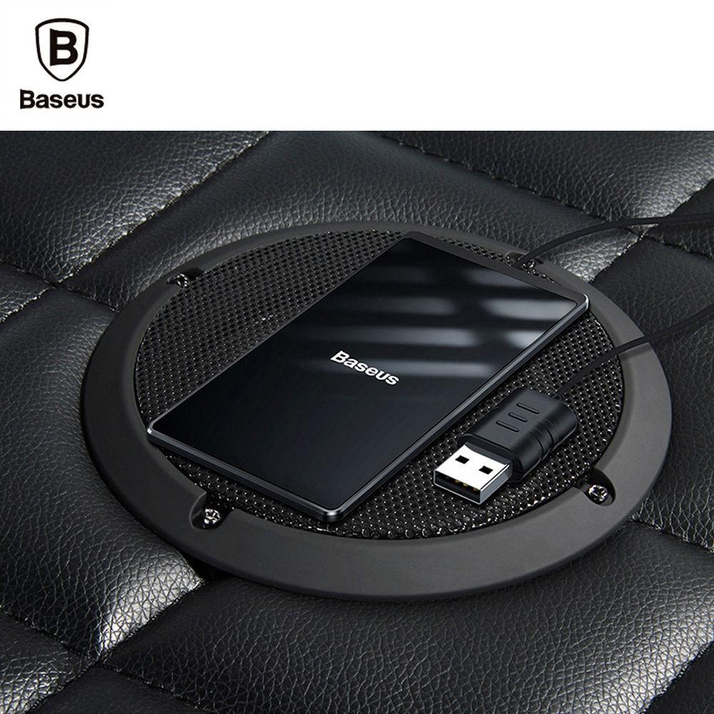 베이스어스 초슬림 카드형 15W 무선 충전기 (블랙) (WX01B-01)