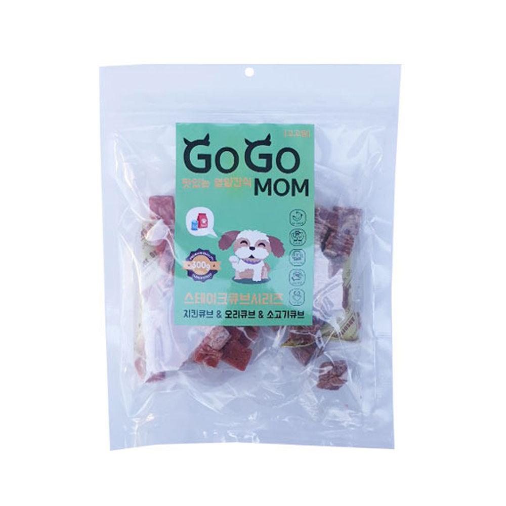 고고맘 스테이크 큐브시리즈 300g (강아지 간식)