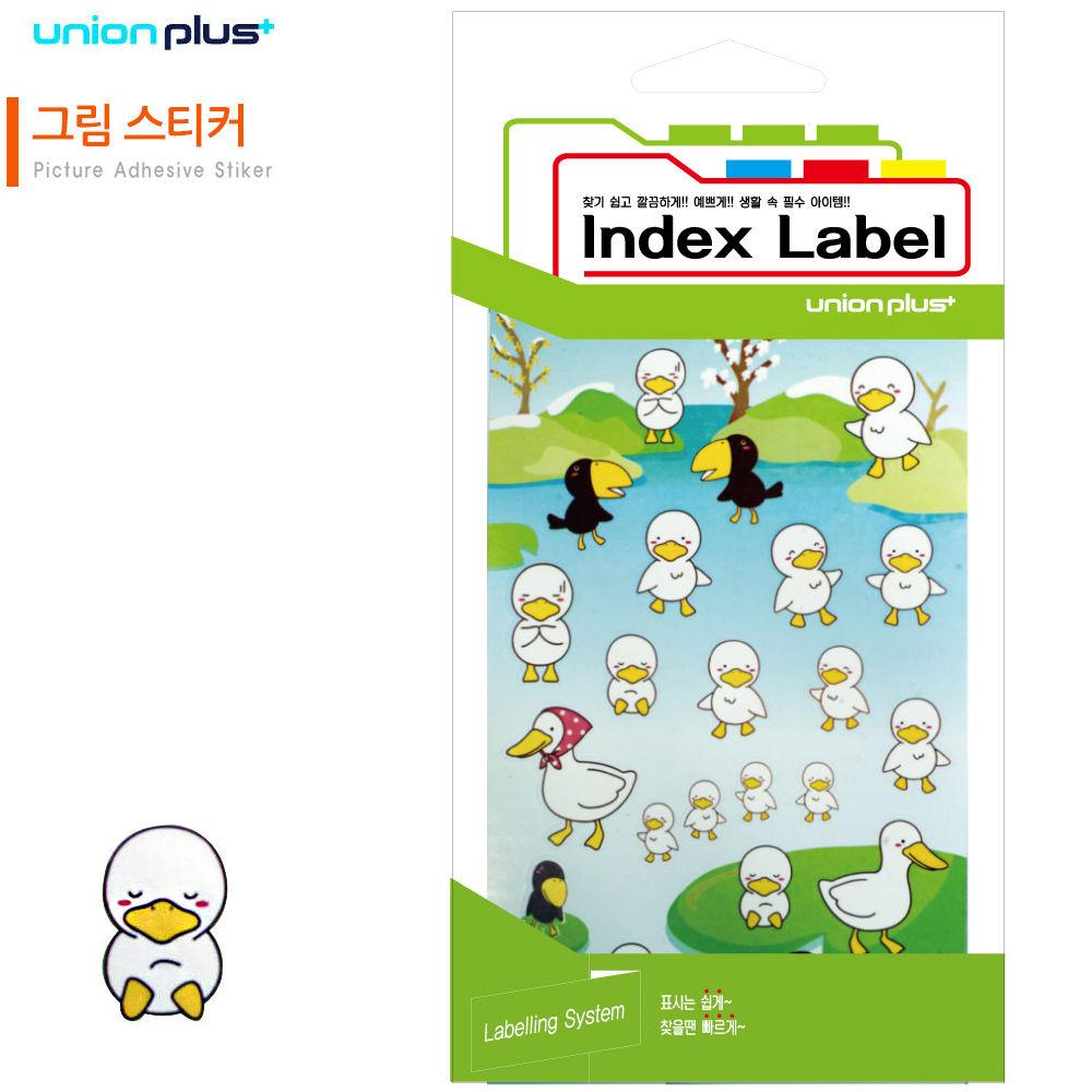 유니온 스티커 그림 (오리) (9매입) (UL-22001)
