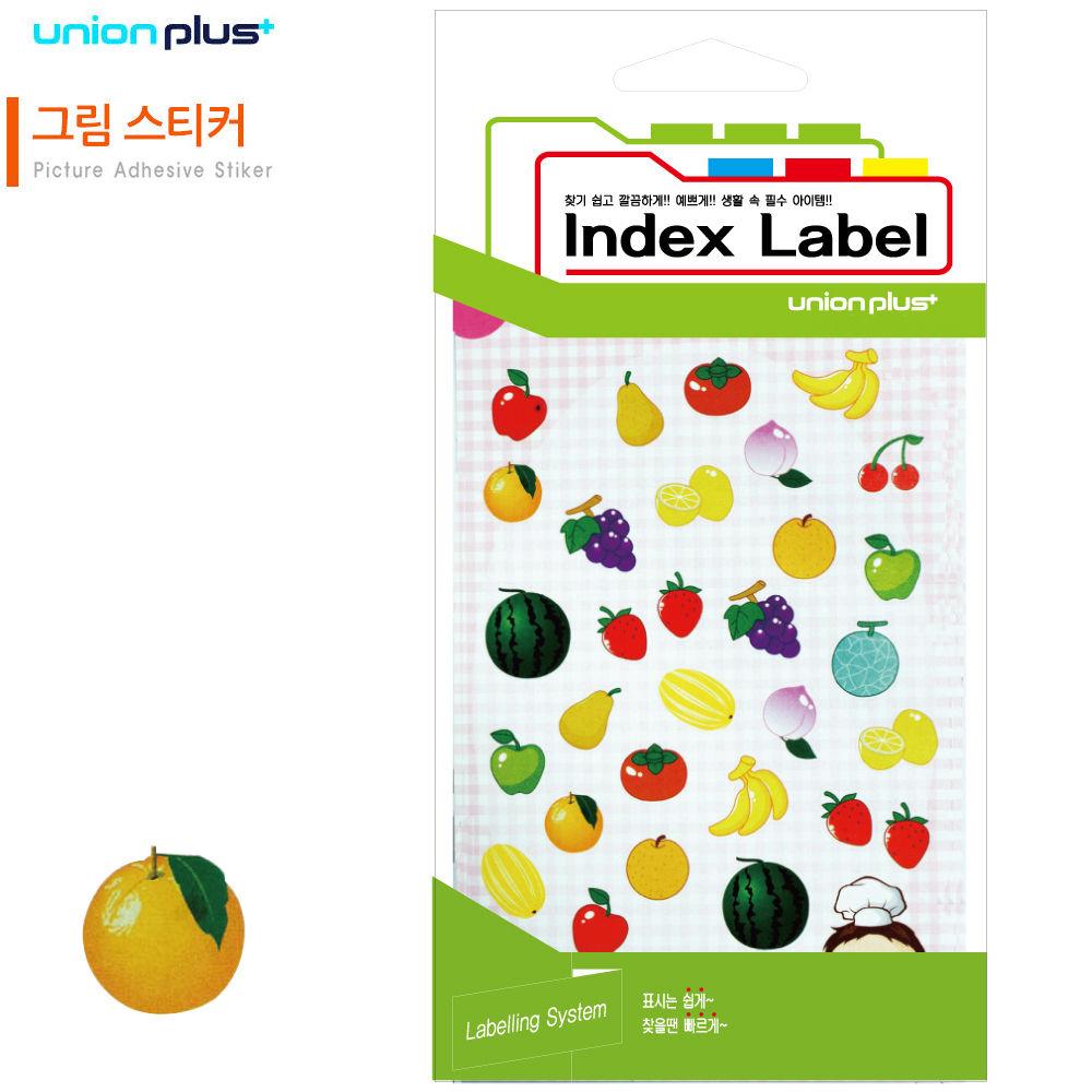 유니온 스티커 그림 (과일) (9매입) (UL-22002)