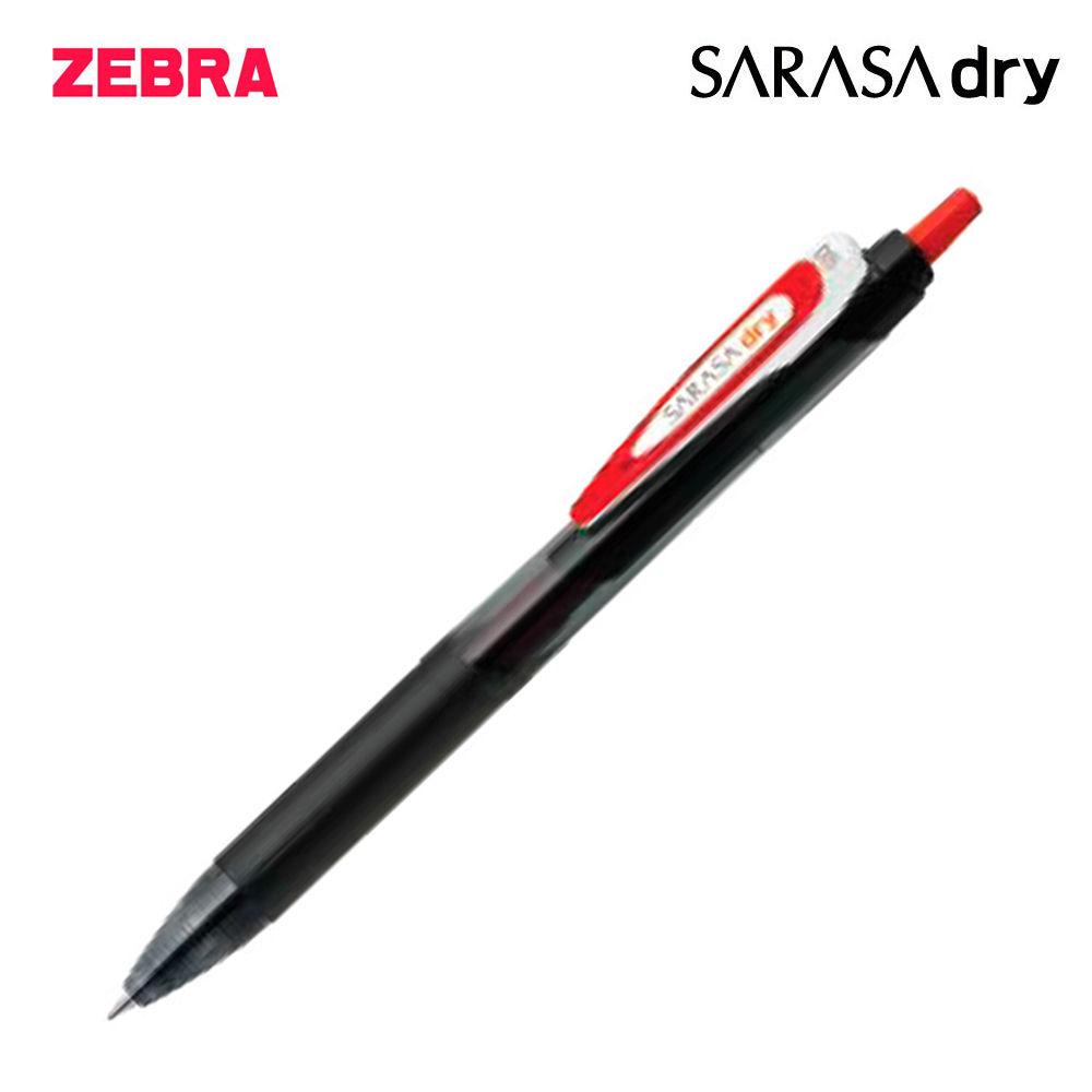 제브라 사라사 드라이 중성펜 0.5mm 1다스 (12개입) (레드)