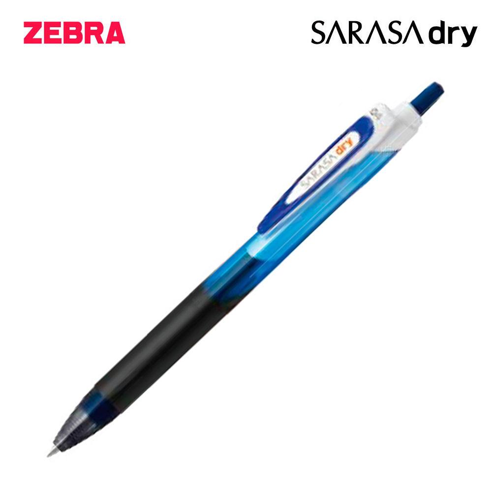 제브라 사라사 드라이 중성펜 0.4mm 1다스 (12개입) (블루)