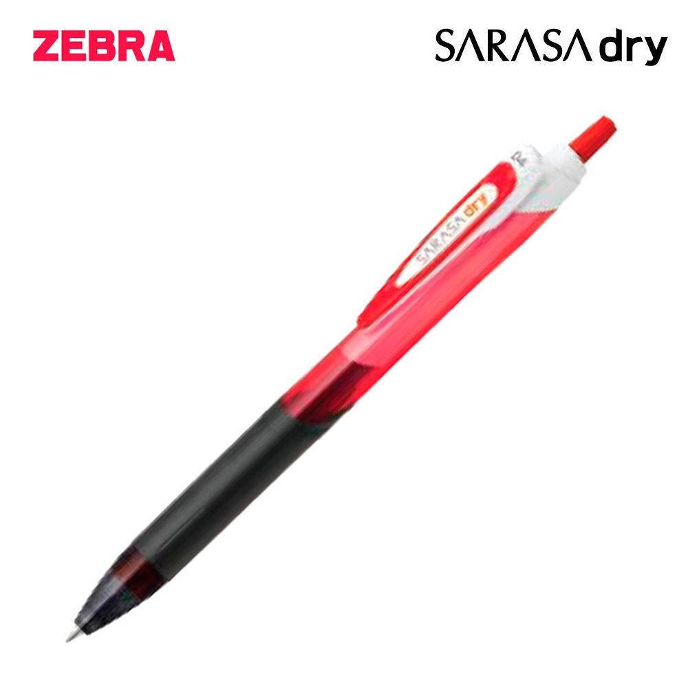 제브라 사라사 드라이 중성펜 0.4mm 1다스 (12개입) (레드)